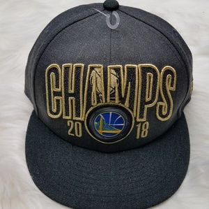 NWOT Warriors 2018 Basketball Champion NBA Hat